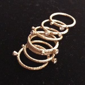 Gold stacking rings size 10